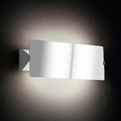 Luminaire - Appliques - Applique à volet pivotant double LED /Charlotte Perriand, 1962 - Nemo - Blanc / Plaque pivotante miroir - Aluminium anodisé, Métal peint