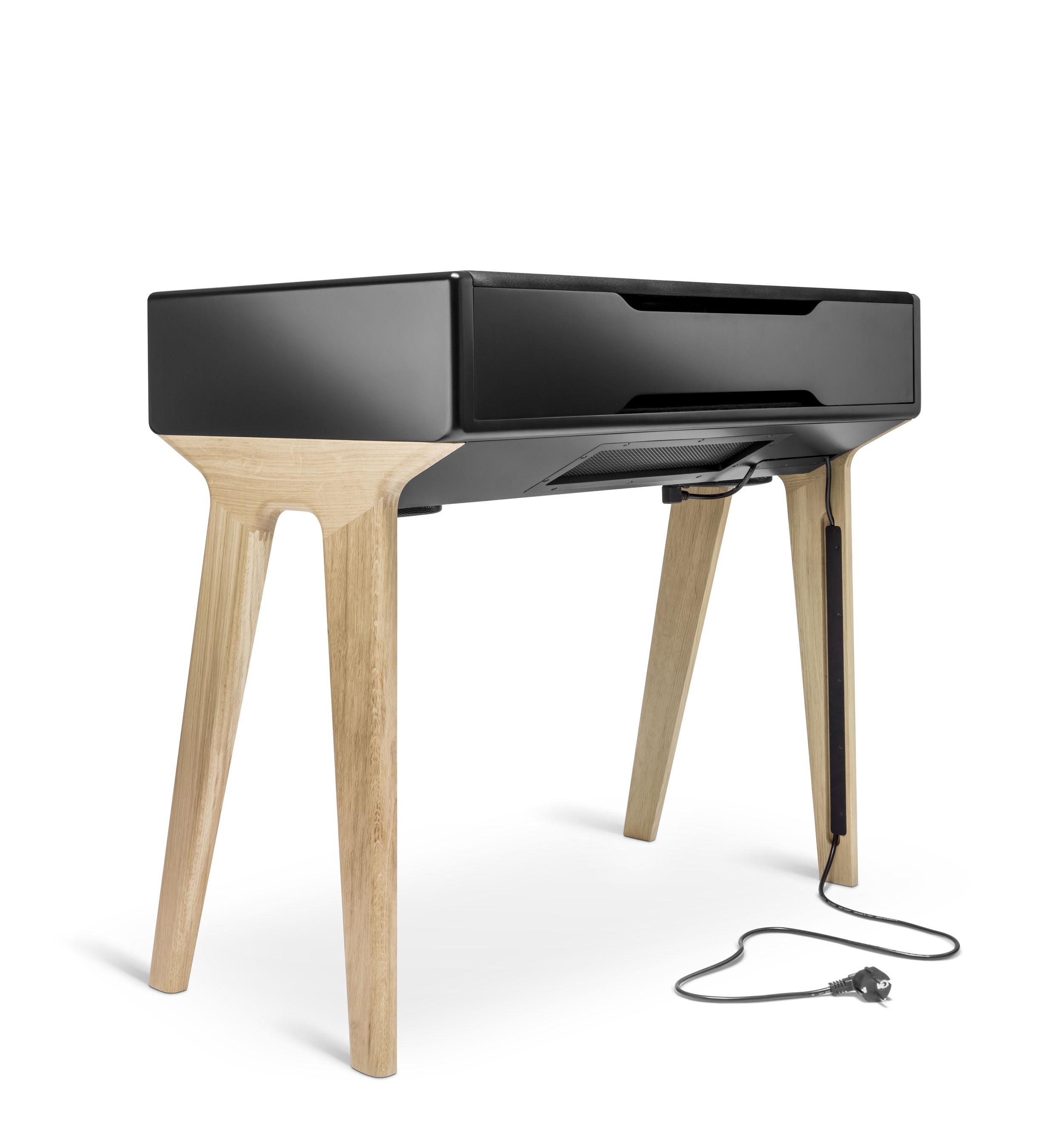bureau lp 160 enceinte acoustique haute fid lit bluetooth noir laqu ch ne la bo te concept. Black Bedroom Furniture Sets. Home Design Ideas