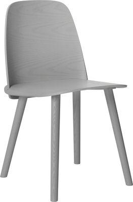 Mobilier - Chaises, fauteuils de salle à manger - Chaise Nerd / Bois - Muuto - Gris - Frêne