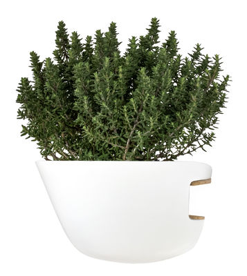 Foto Vaso da fiori Hoï / Per mensole e librerie - Supercraft - Bianco - Ceramica Vaso per fiori