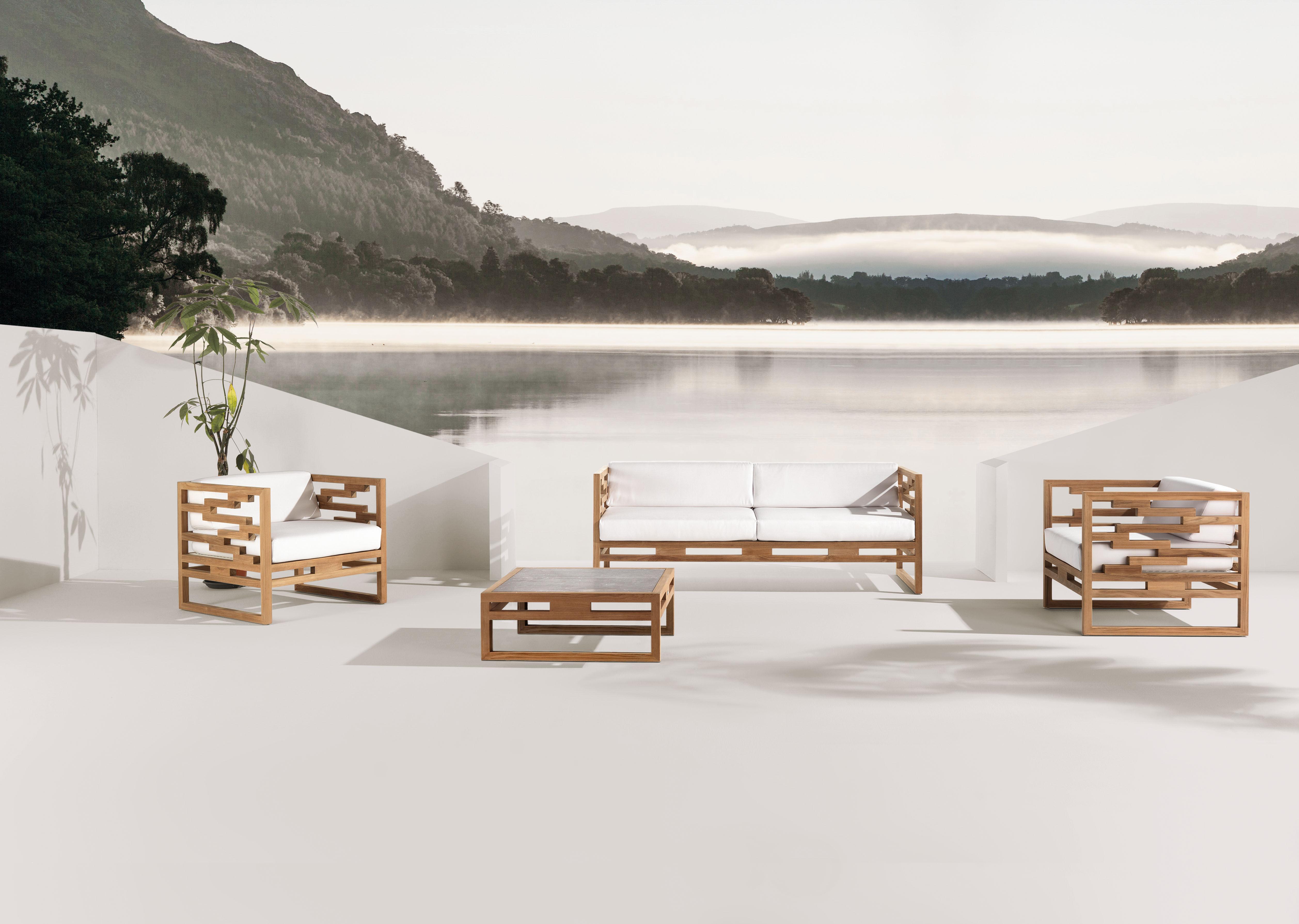 Table basse kontiki pierre de lave 80x80 cm pierre de for Table exterieur largeur 60