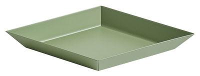 Plateau Kaleido XS / 19 x 11 cm - Hay vert olive en métal