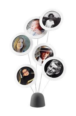 Déco - Objets déco et cadres-photos - Porte-photo Photo Tree / Pour 6 photos - H 35 cm - L'atelier d'exercices - Noir / Blanc - Carton, Métal, Silicone