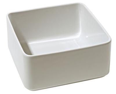 Plat à gratin Programme 8 / Saladier - 22 x 22 cm - Alessi blanc en céramique