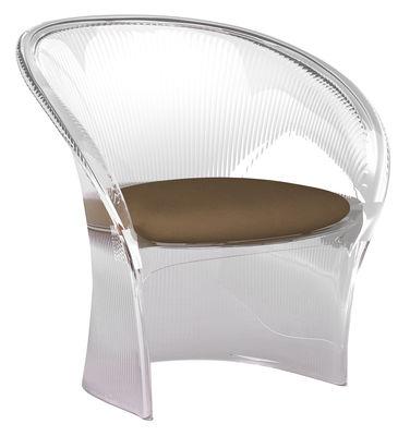 Poltrona Flower - Struttura trasparente/cuscino in tessuto di Magis - Trasparente - Materiale plastico