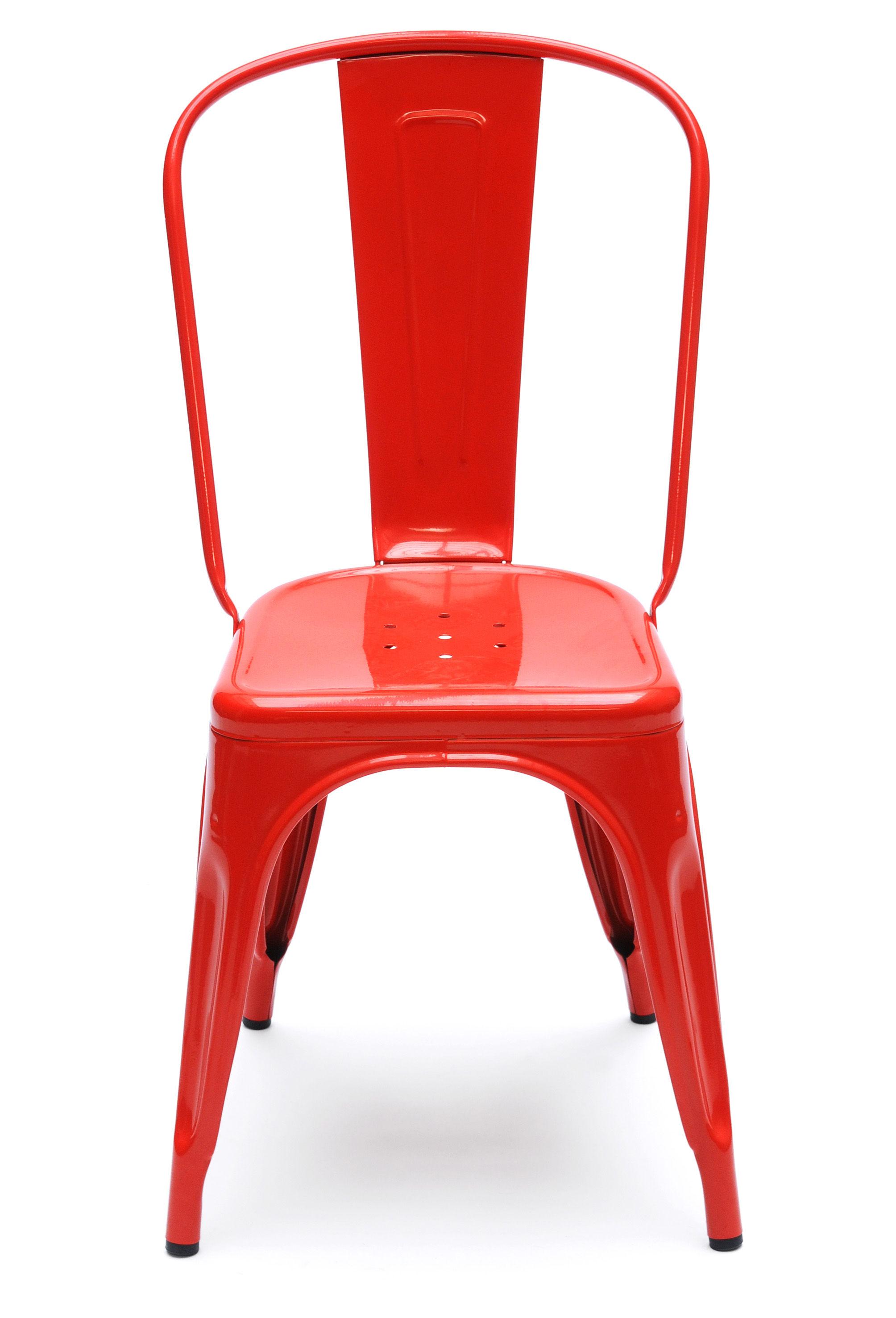 Chaise empilable a acier couleur brillante gris for Couleur chaise