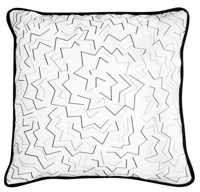 Coussin JER2 / Réédition de Jacques Emile Ruhlmann - La Chance blanc,noir en tissu