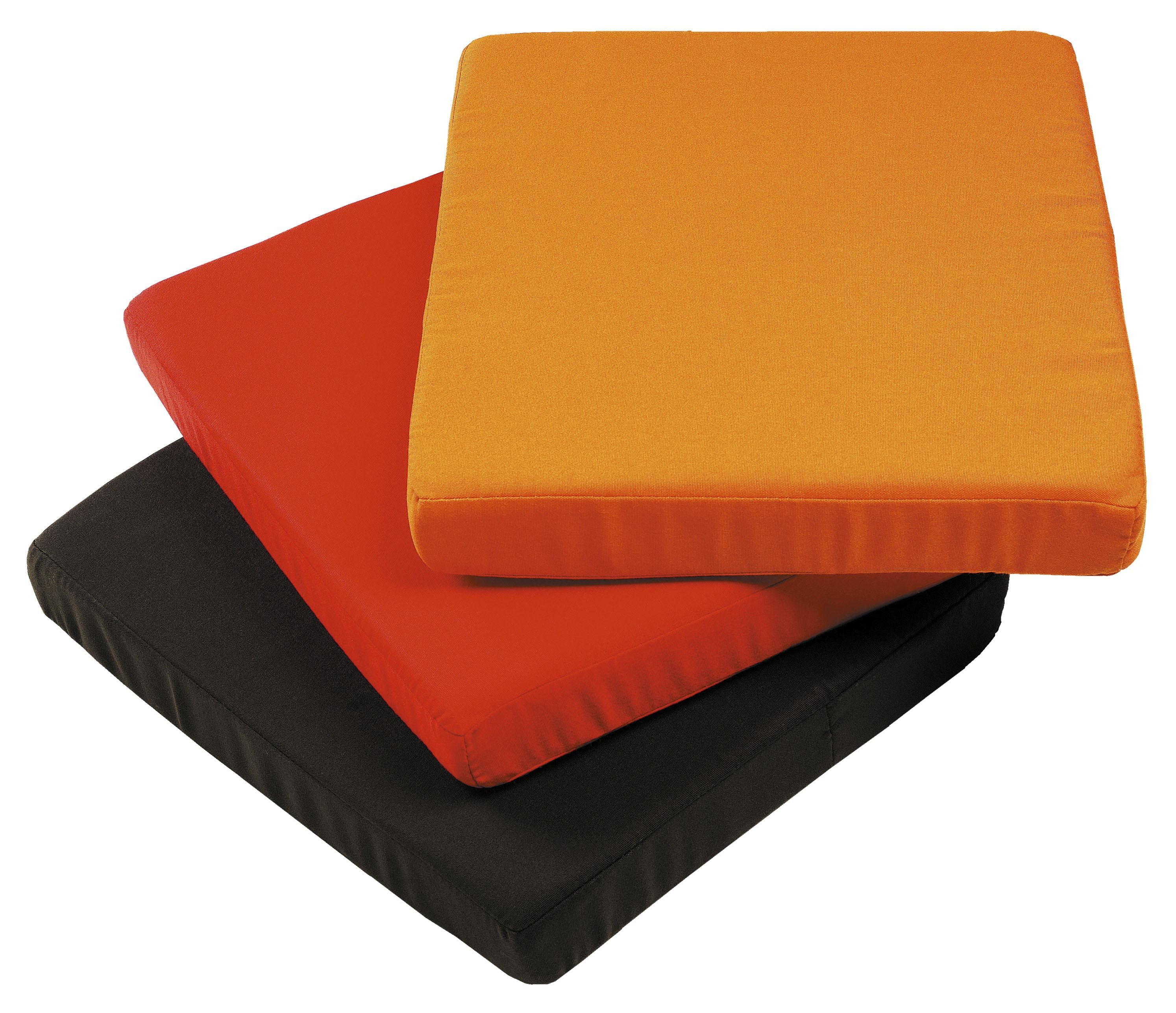 coussin d 39 assise pour pied de parasol cube coussin orange sywawa. Black Bedroom Furniture Sets. Home Design Ideas