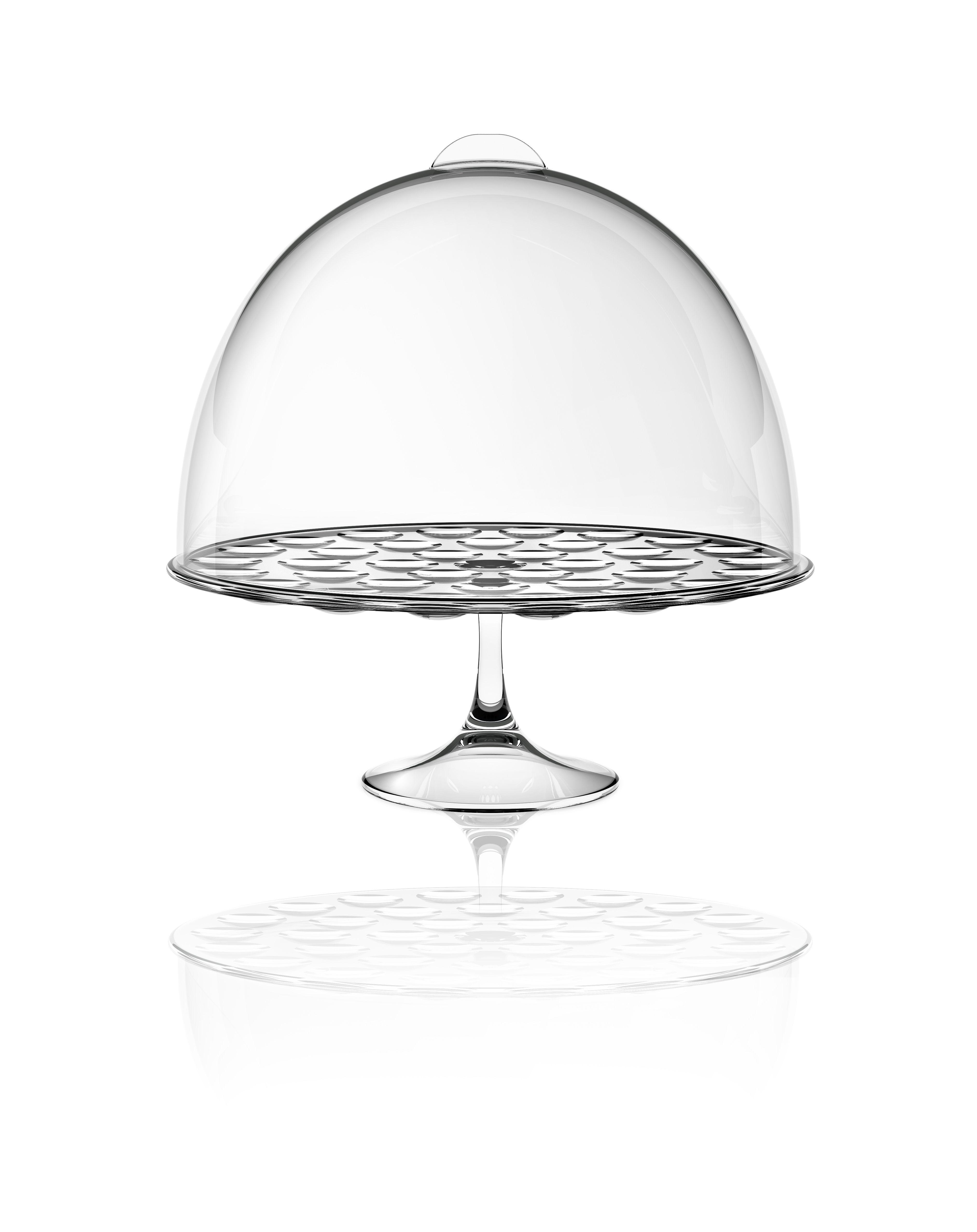 cloche pour plateau g teau bolle transparent italesse. Black Bedroom Furniture Sets. Home Design Ideas