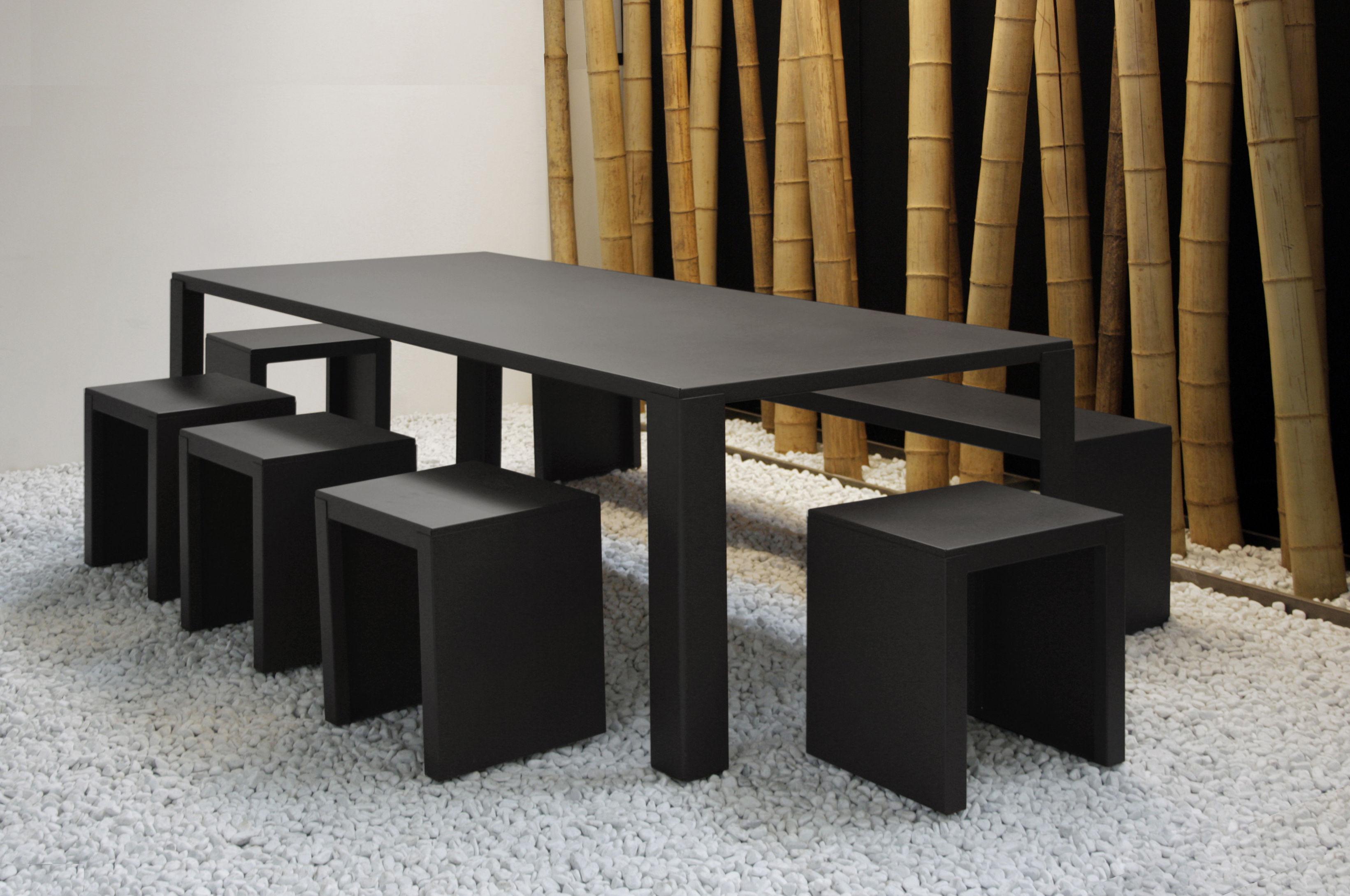 Table de jardin big irony outdoor l 200 cm gris chaud zeus for Table 85 cm de large