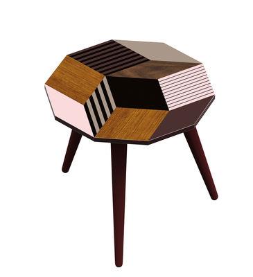 Table basse Penrose Fancywood SMALL / 28 x 29 x H 30 cm - Exclusivité - Bazar Therapy pour Made in design bois,taupe,rose poudré en bois