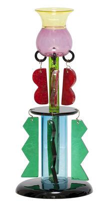 Vase Clesitera by Ettore Sottsass / 1986 - Memphis Milano multicolore en verre