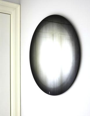 Mobilier - Miroirs - Miroir mural Fading Ø 55 cm - ENOstudio - Noir - Argent, Verre