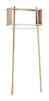 Möbel - Regale und Bücherregale - Töjbox Small Kleiderständer / Regal - L 80 cm x H 200 cm - Woud - Eiche - Eichenholzfurnier, massive Eiche