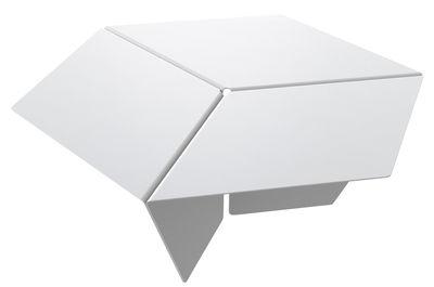 Table basse Kuban / H 25 cm - Matière Grise blanc en métal
