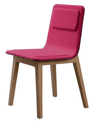 chaise rembourr e laia feutre de laine fuchsia. Black Bedroom Furniture Sets. Home Design Ideas