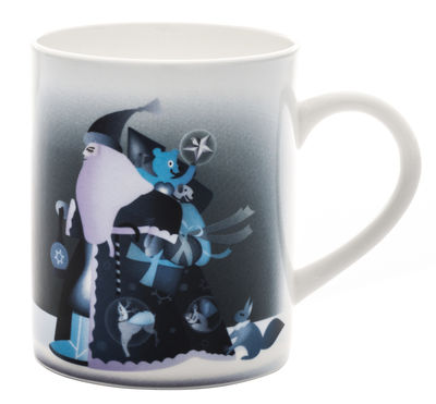 Mug Blue christmas - A di Alessi blanc,bleu en céramique