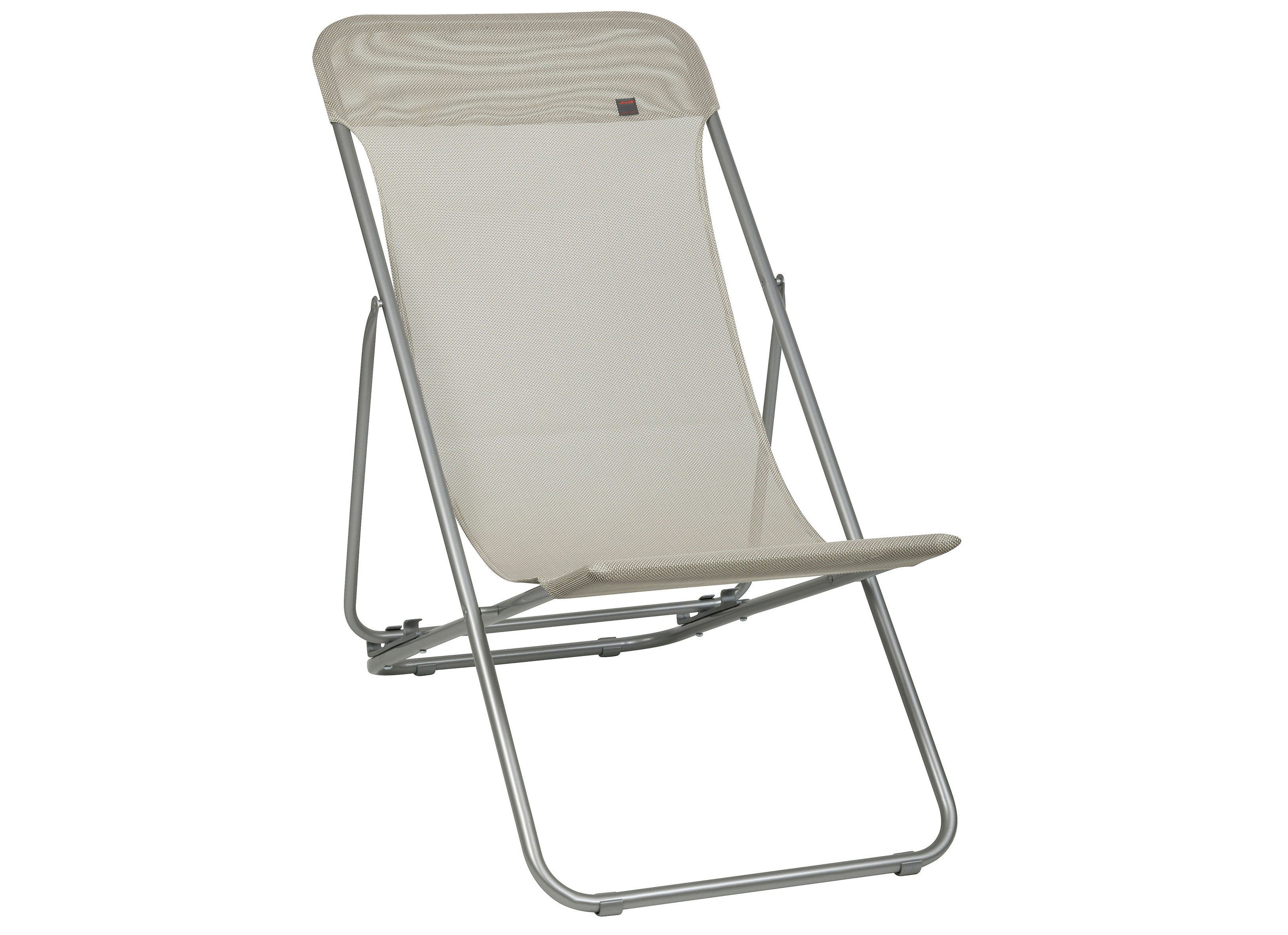 Chaise longue transatube pliable 3 positions seigle - Chaises longues lafuma ...