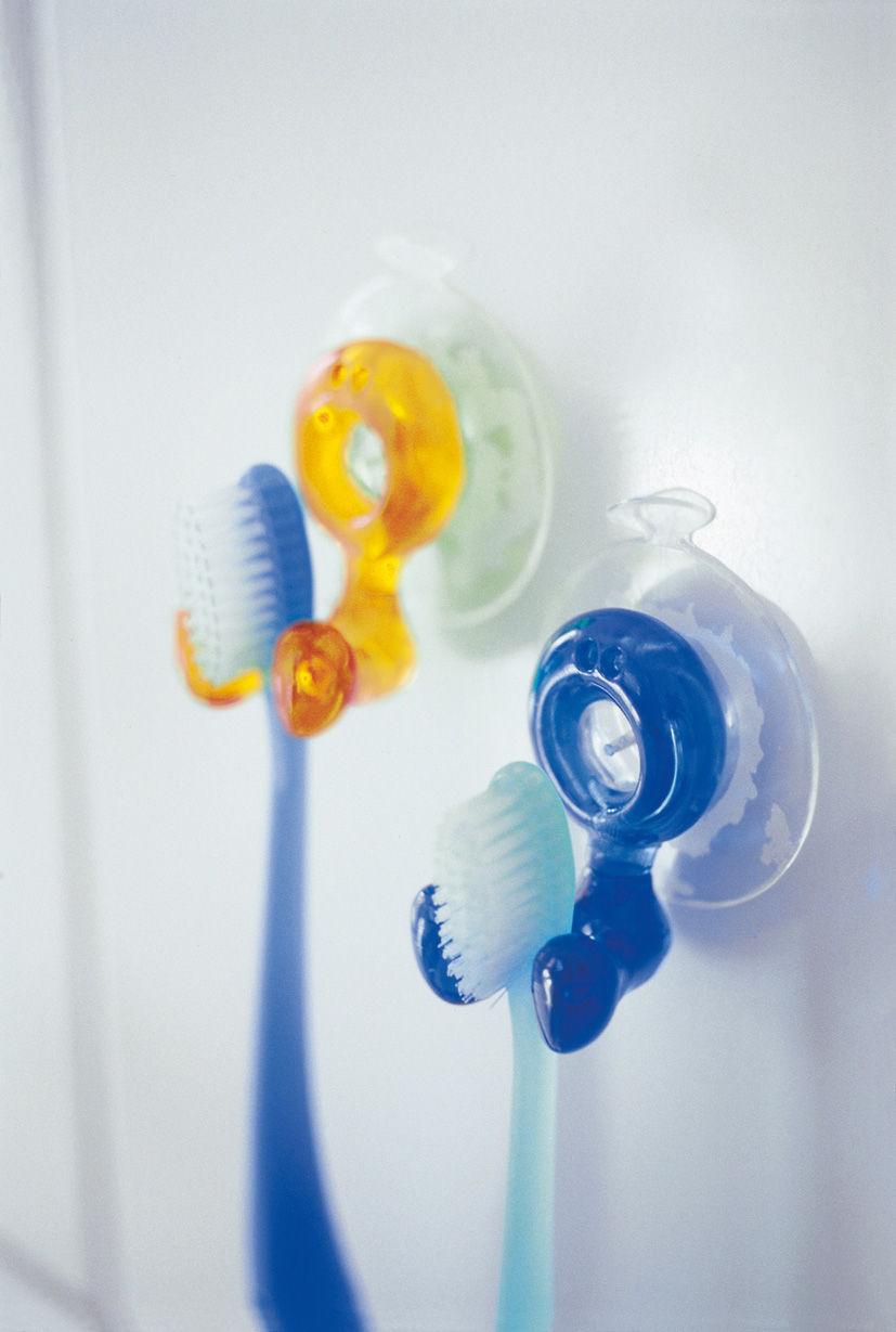 Porte brosse dents tommy avec ventouse bleu cara be - Porte brosse a dent ventouse ...