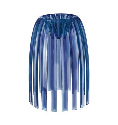 Abat-jour Josephine Small / Ø 22 x H 28 cm - Koziol bleu marine transparent en matière plastique