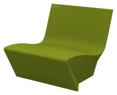 Poltrona bassa Kami Ichi di Slide - Verde - Materiale plastico
