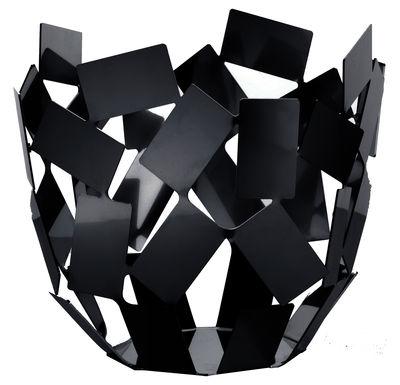 Tavola - Cesti, Fruttiere e Centrotavola - Cesto La Stanza dello Scirocco - Ø 22 x h 20 cm di Alessi - Nero - Acciaio inossidabile