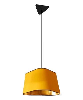 Grand Nuage Pendelleuchte L 43 cm / gerade - Designheure - Gelb,Gold lackiert