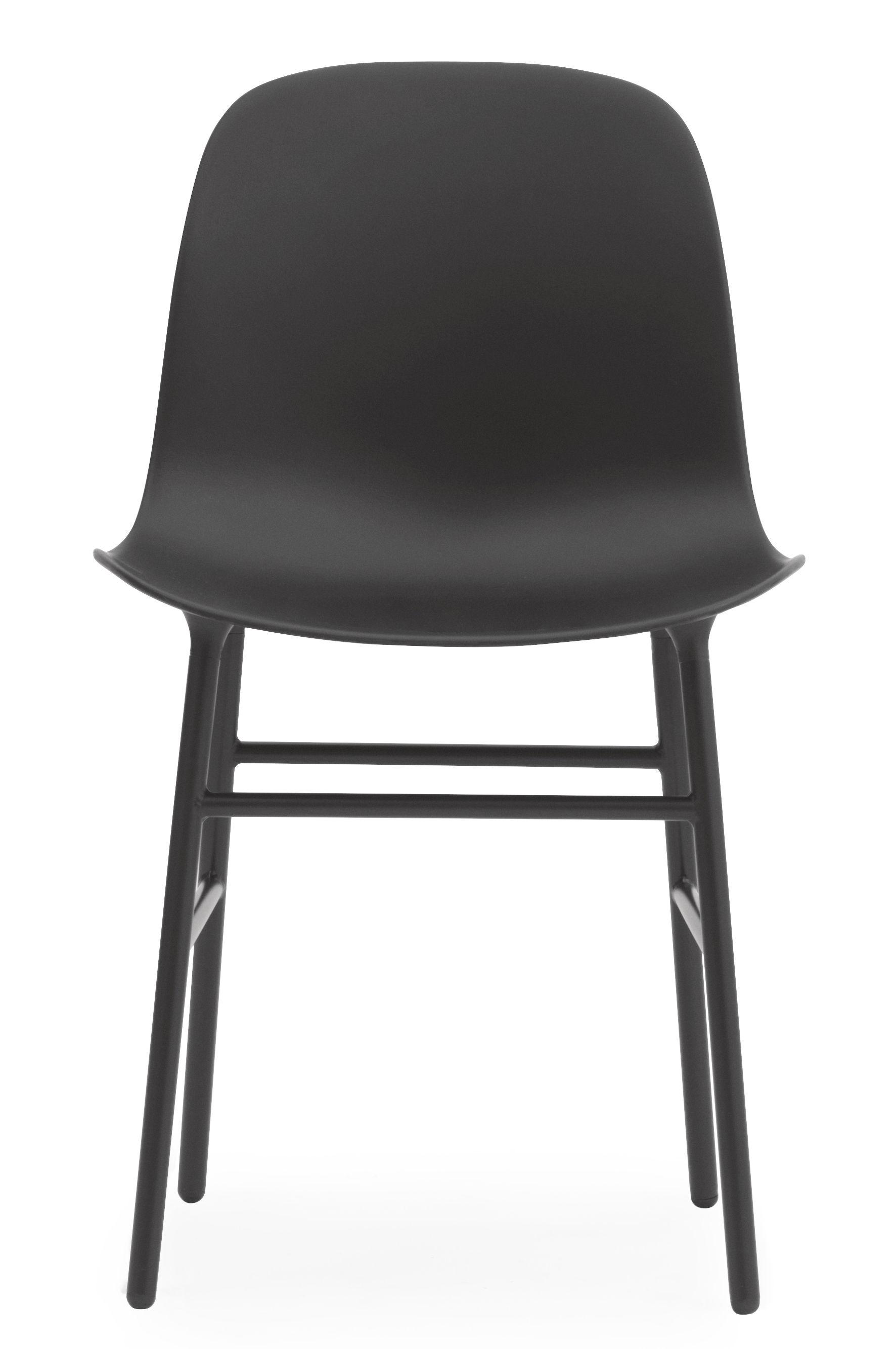 chaise form pied m tal noir normann copenhagen. Black Bedroom Furniture Sets. Home Design Ideas