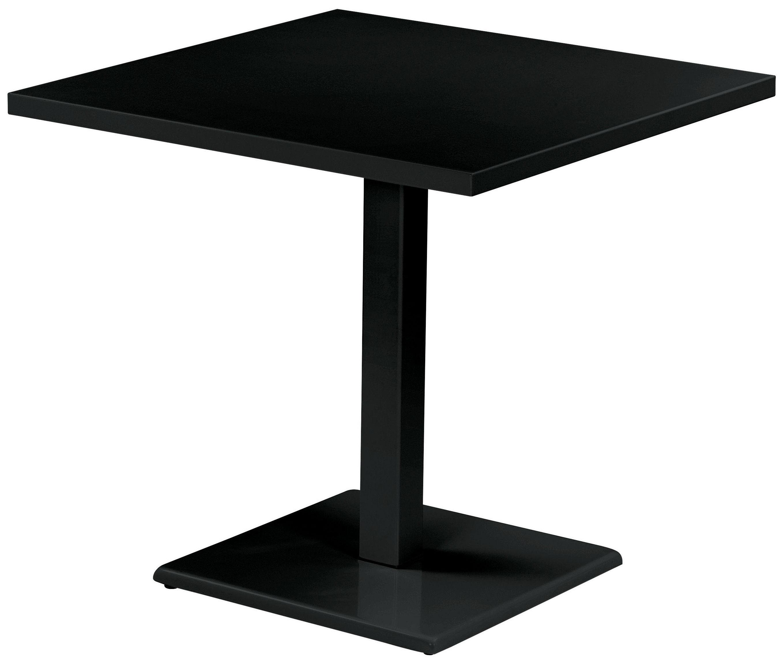 Table round 80 x 80 cm noir emu for Table design 80 cm