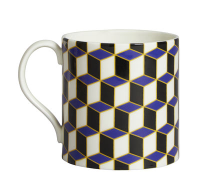 Mug Versailles Carnaby - Jonathan Adler bleu en céramique
