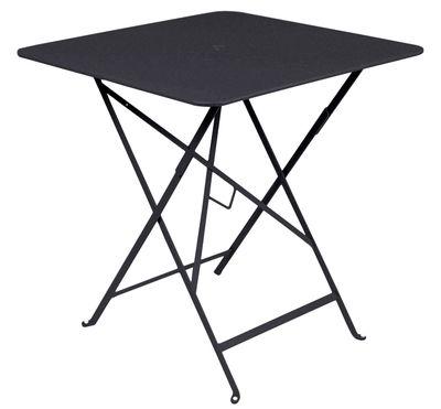 Foto Tavolo pieghevole Bistro - /  71 x 71 cm - Foro per parasole di Fermob - Carbone - Metallo