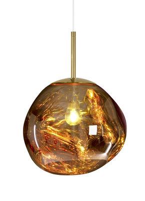 Foto Sospensione Melt Mini - / Ø 27 cm di Tom Dixon - Oro - Materiale plastico
