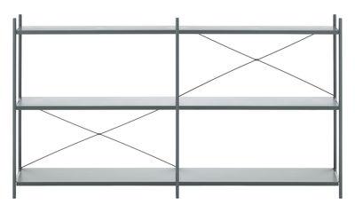 Foto Mensola Punctual / 6 piani - L 186 x H 100 cm - Ferm Living - Blu scuro - Metallo Scaffale