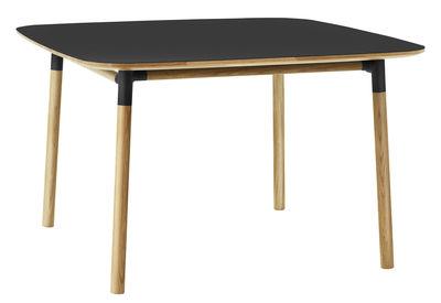 Table Form / 120 x 120 cm - Normann Copenhagen noir,chêne en matière plastique