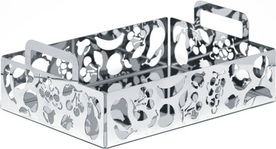Corbeille à fruits Ecco! / 30 x 22 cm - Alessi métal brillant en métal