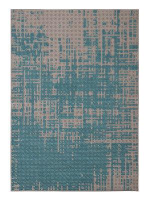 Foto Tappeto Abstract / 170 x 240 cm - Gan - Blu,Grigio - Tessuto