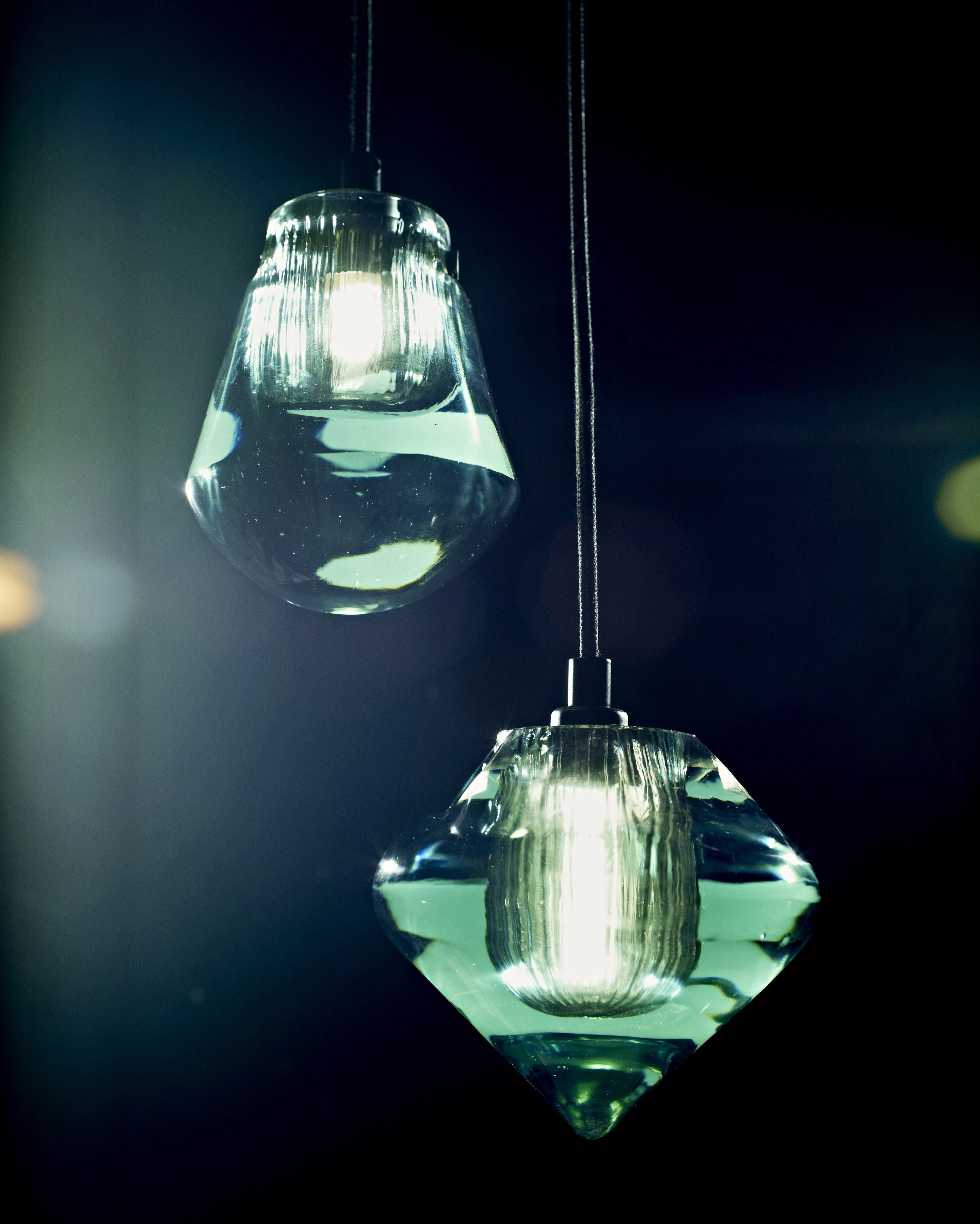 Pressed Glass Bead Pendant Transparent By Tom Dixon