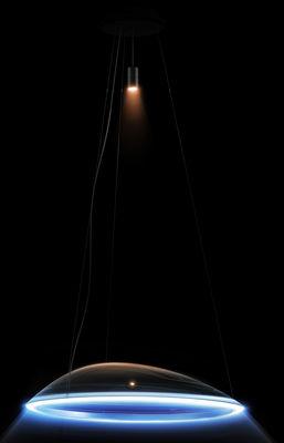 Luminaire - Suspensions - Suspension Ameluna LED RGB / by Mercedes-Benz - Ø 79,5 cm - Artemide - Transparent / Bande aluminium - Fonte d'aluminium, PMMA, Profilé d'aluminium poli