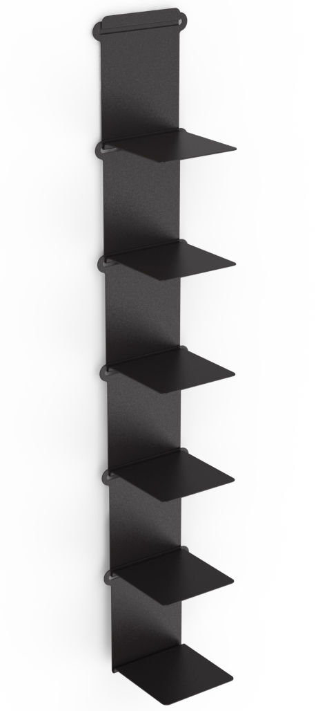 etag re knick range livres l 15 cm noir mati re grise made in design. Black Bedroom Furniture Sets. Home Design Ideas
