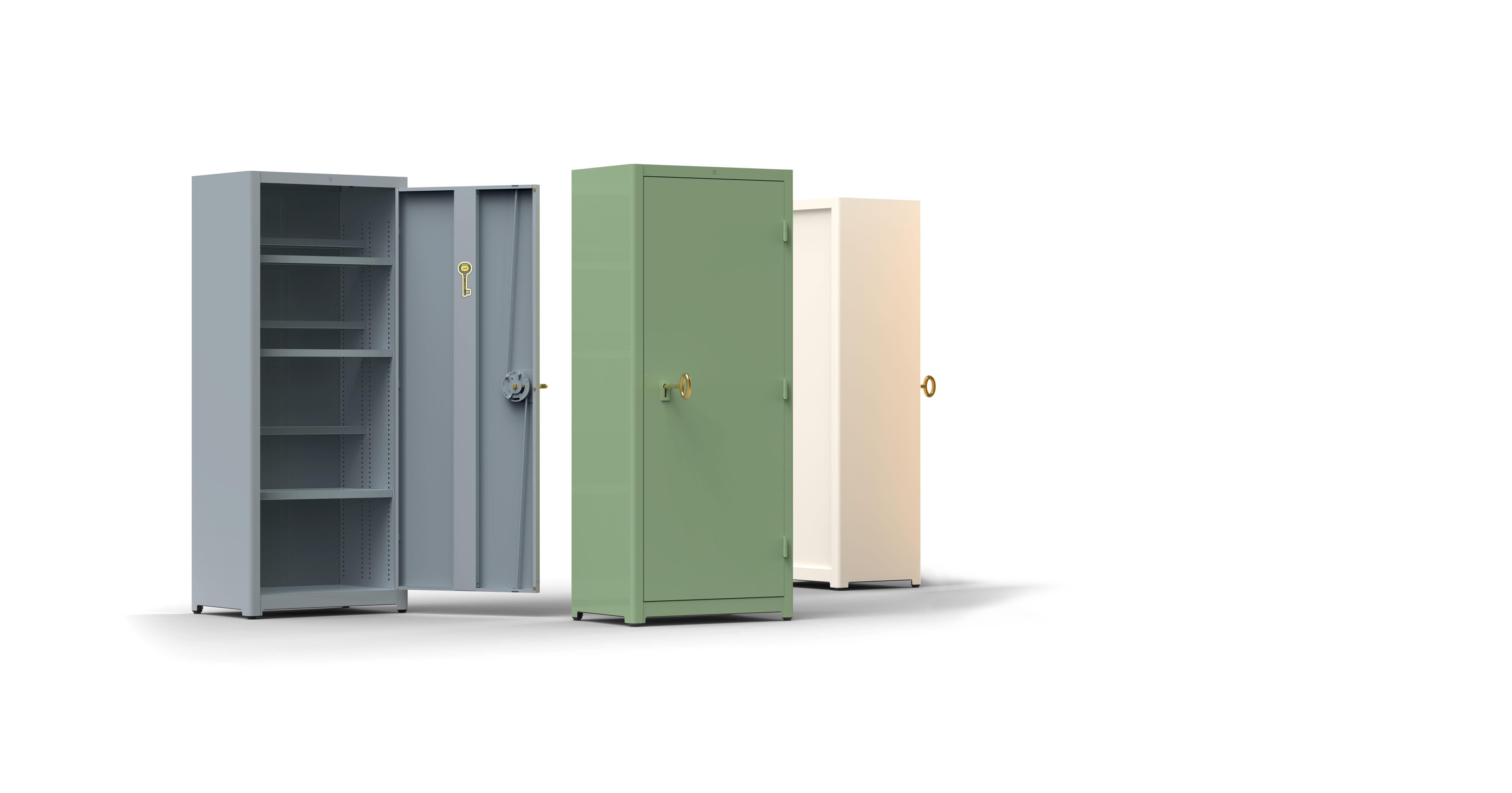 Armoire job cabinet l 75 x h 180 cm blanc lensvelt for Armoire 180 x 200