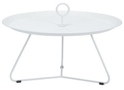 Table basse Eyelet Large / Ø 80 x H 35 cm - Houe blanc en métal
