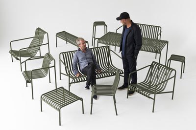 Palissade sgabello h cm r e bouroullec antracite by hay