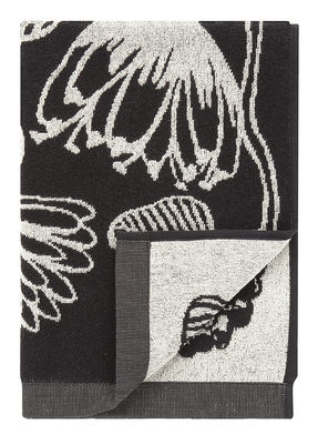 Serviette de toilette Tiara / 50 x 70 cm - Marimekko blanc,noir en tissu