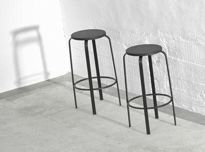 Chico sgabello bar h 64 cm legno & gambe metallo nero by