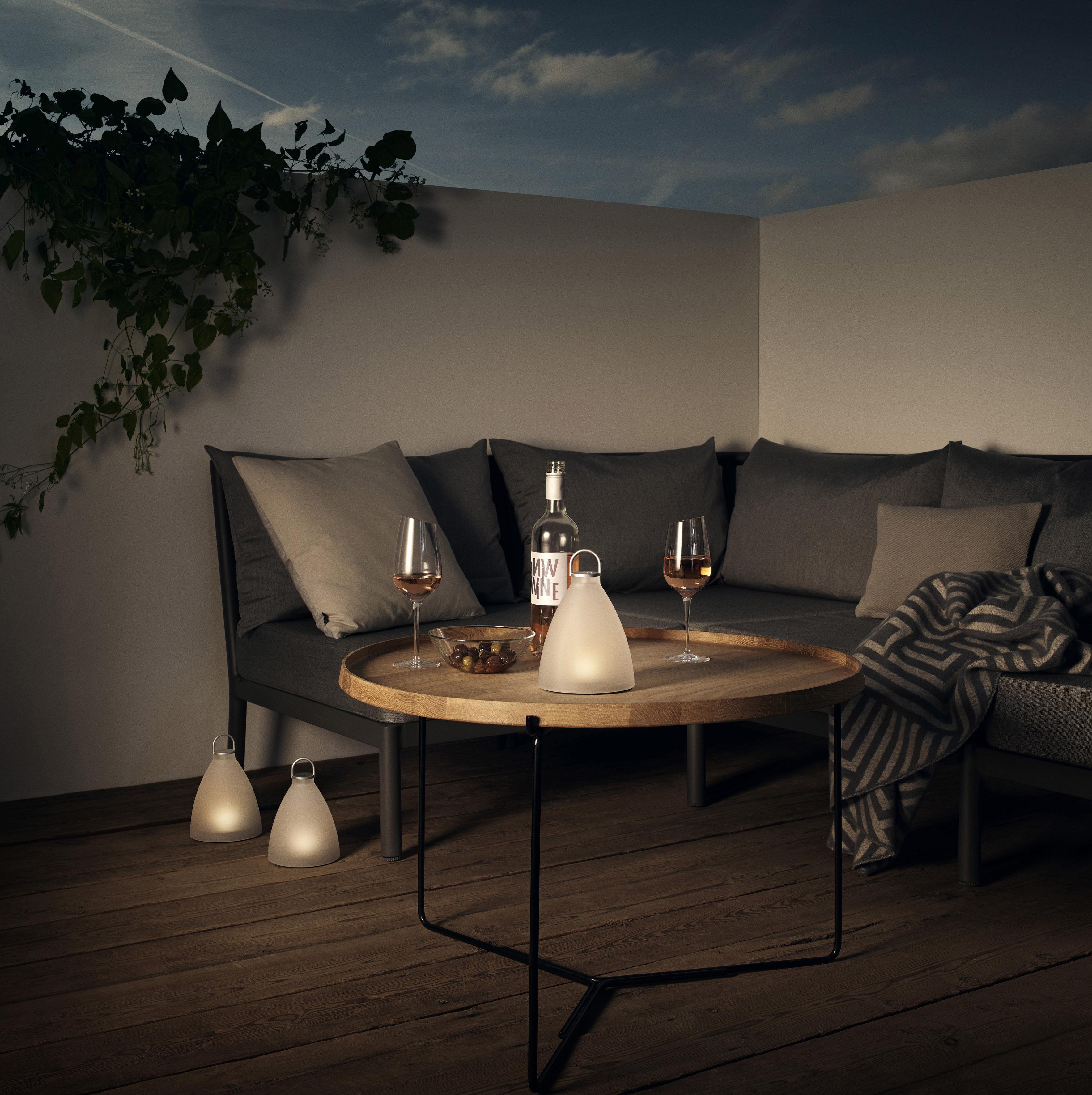 sunlight bell solar lamp wireless h 20 cm white by. Black Bedroom Furniture Sets. Home Design Ideas