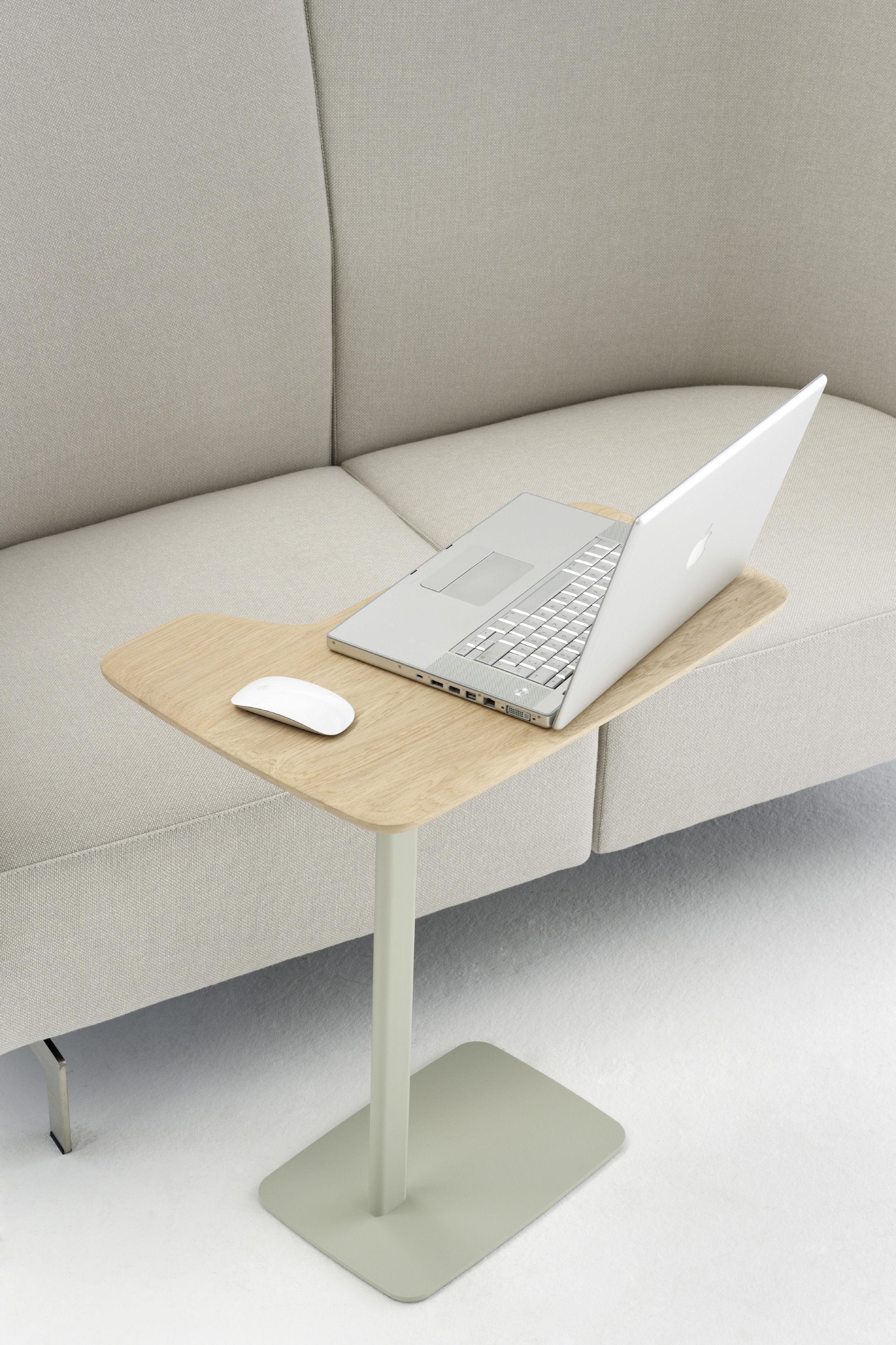 table d 39 appoint ustensils h 63 cm pour ordi portable bois clair pied gris arco. Black Bedroom Furniture Sets. Home Design Ideas