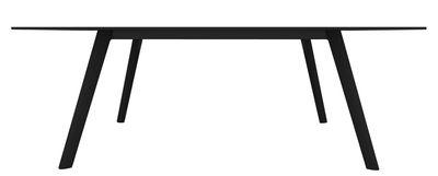 Table Pilo / 200 x 90 cm - Magis noir en bois