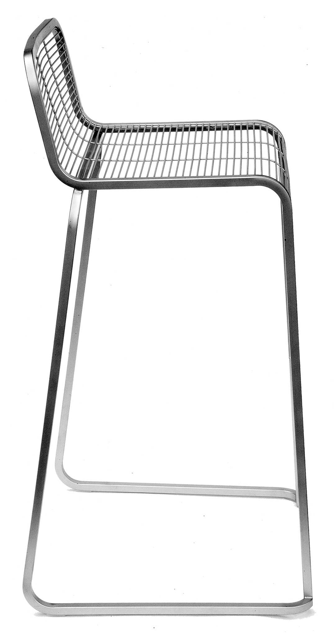 Aria Bar Stool H 75 Cm Metal Stainless Steel By Lapalma