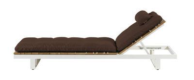 Foto Cuscino per lettino Pure - Viteo - Cioccolato - Tessuto Cuscino per sedia a sdraio