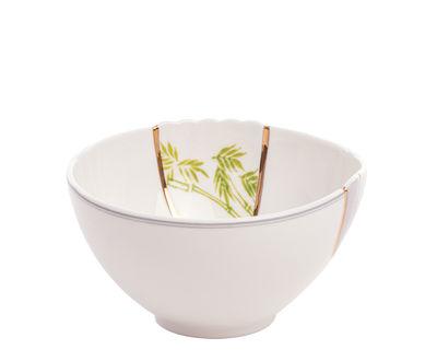 Bol Kintsugi / Porcelaine & or fin - Seletti blanc,or,vert en céramique